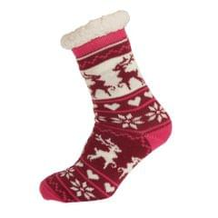 Aler Womens/Ladies Thermal Reindeer Design Co-Zees Slippers (1 Pair)