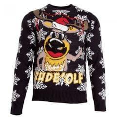 Brave Soul Mens `Rude`olf Knitted Christmas Jumper
