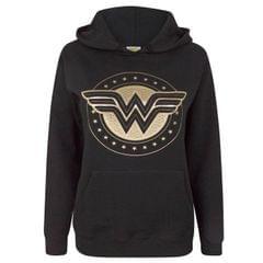 Wonder Woman Womens/Ladies Foil Shield Hoodie