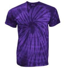 TDUK Mens Short Sleeve Spiral Tie Dye T-Shirt
