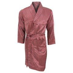 Mens Lightweight Traditional Patterned Satin Robe