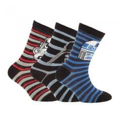 Disney Star Wars Childrens Boys Official Patterned Socks (Pack Of 3)