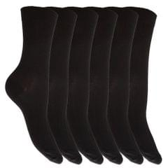 Womens/Ladies Extra Fine Silk Touch Casual Socks (Pack Of 6)