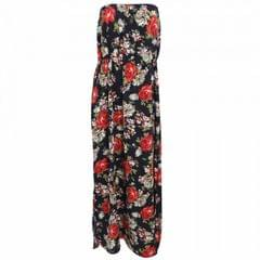 Womens/Ladies Floral Print Strapless Maxi Dress