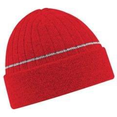Beechfield Junior Enhanced/Vis Thinsulate Thermal Winter Beanie Hat / Schoolwear
