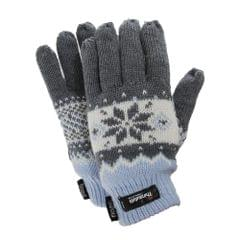 FLOSO Ladies/Womens Fairisle Thermal Gloves (3M 40g)