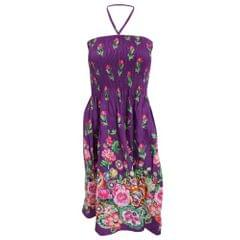 Ladies/Womens Tulip and Various Flower Printed 3 in 1 Summer Dress/Skirt