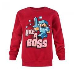 Minecraft Childrens/Boys Official Like A Boss Sweatshirt