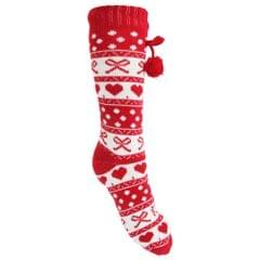 Slumberzz Womens/Ladies Fluffy Festive Slipper Socks