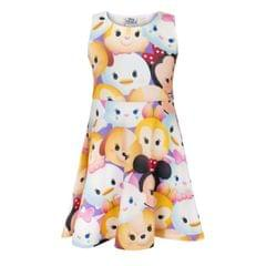 Disney Childrens Girls Tsum Tsum Characters Skater Dress