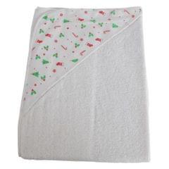 Snuggle Baby Christmas Hooded Towel
