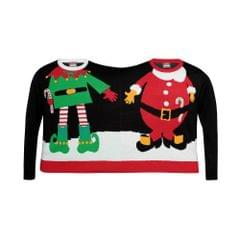 Christmas Shop Adults Unisex Double Santa/Elf Christmas Sweater