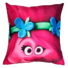 Trolls Childrens/Kids Official Glow Character Design Square Pillow
