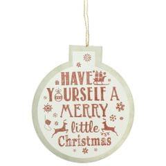 Christmas Shop Bauble Sign Decoration