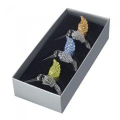 Heaven Sends 3 Glittery Glass Hanging Bird Decorations