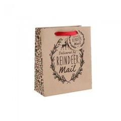 OGB Giftware Christmas Delivered By Reindeer Mail  Geschenktasche
