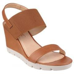 The Flexx Womens/Ladies Elasticated High Wedge Heel Sandals