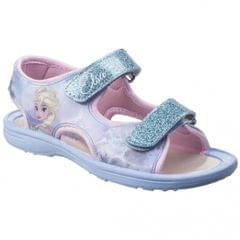 Leomil Childrens Girls Frozen Elsa Glitter Touch Fastening Sandals
