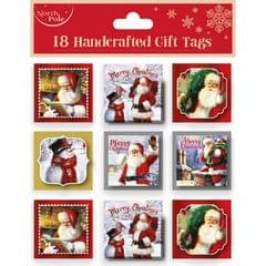 Eurowrap Weihnachtliche Geschenkanhänger, 18 Stück