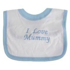 Baby Lätzchen mit Design I Love Mummy