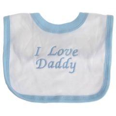 Baby Lätzchen mit Design I Love Daddy