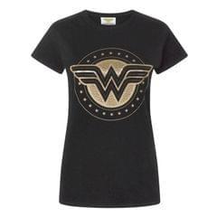 Wonder Woman - T-shirt blason cuivré - Femme