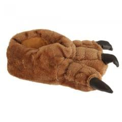 Mens Plush Monster Paw Novelty Slippers
