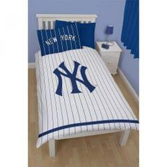 New York Yankees Childrens/Kids Reversible Twin Comforter Cover Bedding Set