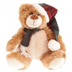 North Pole Plüsch-Teddybär mit Weihnachtsmannmütze