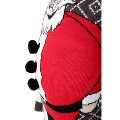 Brave Soul Herren Weihnachtspullover mit gepolsterten Bauch Weihnachtsmann Design