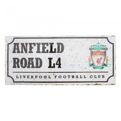 Liverpool FC Official Retro Soccer Crest Street Sign