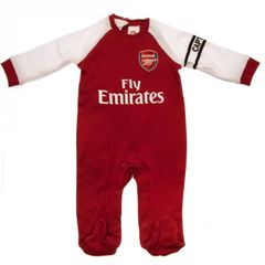 Arsenal FC Baby Sleepsuit - Red Collar