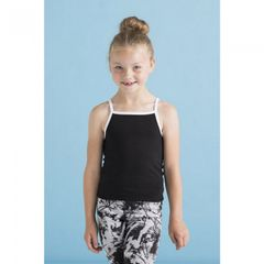 Skinni Fit Chidlrens Girls Feel Good Stretch Contrast Strappy Undershirt