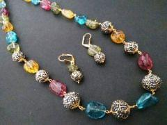 Stone necklace,studded with sem precious stones