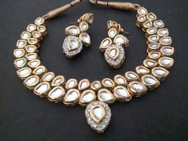 Double  Layered High Class Kundan Necklace with an year warranty