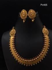 Gold plated Necklace set - with an year warranty