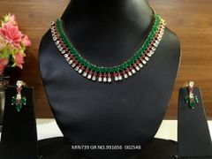 Beautiful American Diamond Necklace Set with an year warranty