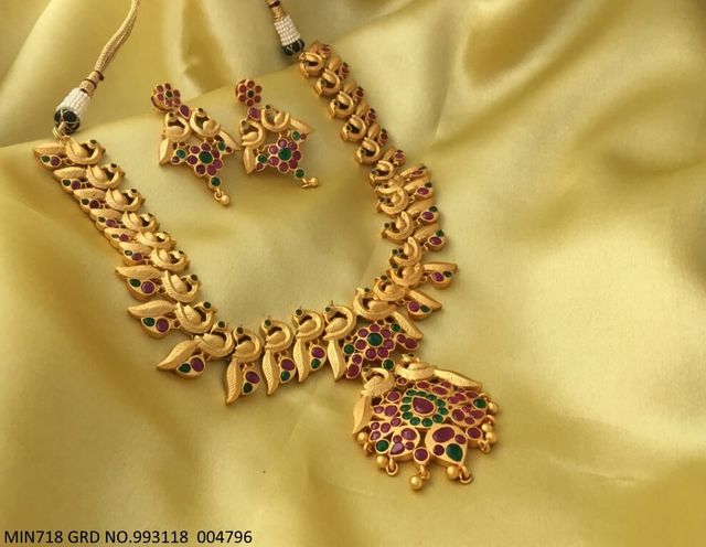 Gold Plated Necklace set with beautiful gold plated Earrings
