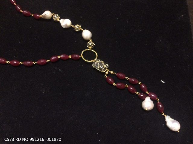 High quality beads necklace with an year warranty. Length is 44 inches
