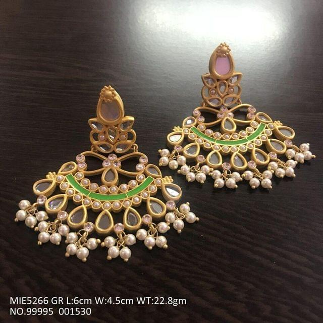 Brass +Kundan Stones + Semi Precious Stones