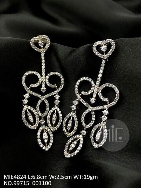 American Diamond Dangler with semi precious stone