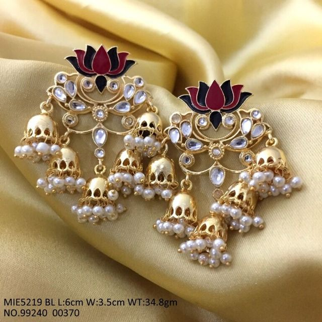Beautiful pair of Hand-printed Jewelry