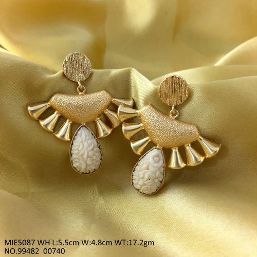 Gold Plated Brass Jewelry with semi precious stone