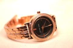 Diamond Studded Watch with an year warranty- MK