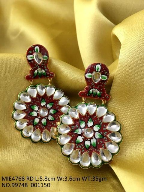 Kundan Stone Studded with brass metal and plating of gold