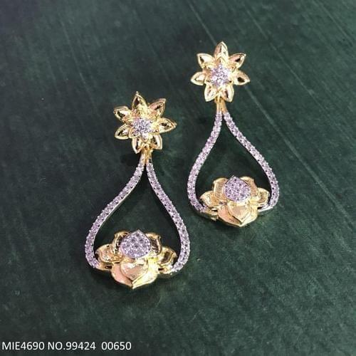 Brass+ American Diamond jhumki