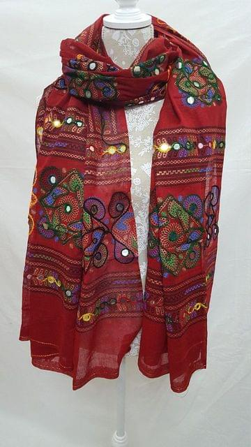Original Kutch Worked Handmade/Handworked Dupatta- Fabric Cotton
