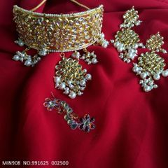 Kundan Necklace/Choker Set with an year warranty