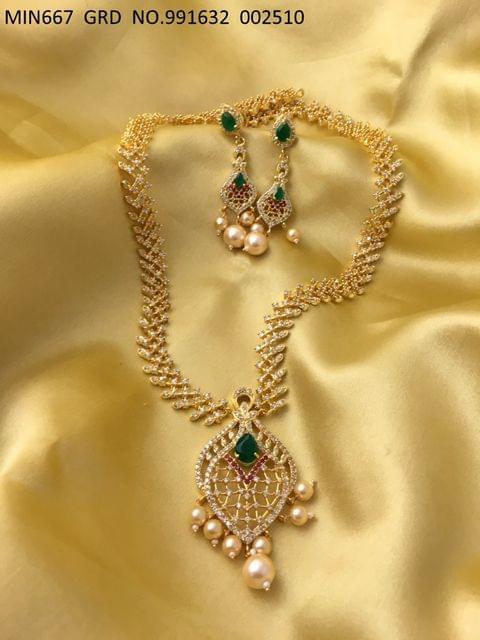 American Diamond + Kundan and Pearls stones with an year warranty