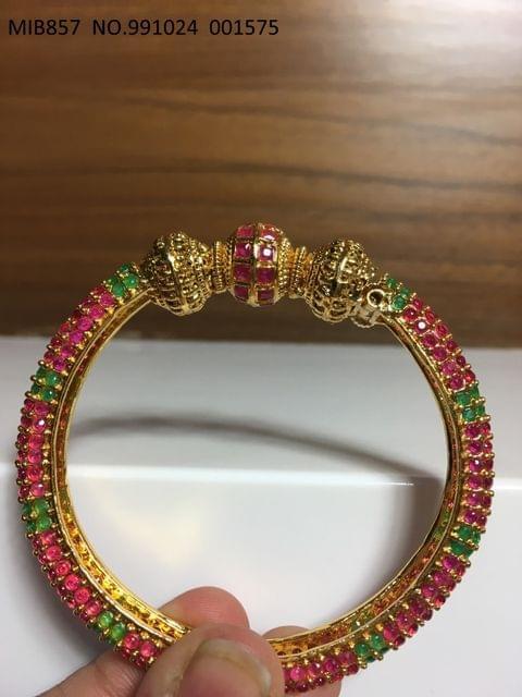 High Class Kada- American Diamond +Brass+ Gold plated - 1 year warranty